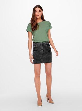 Zelené basic tričko Jacqueline de Yong Pastel