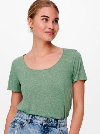 Světle zelené tričko Jacqueline de Yong Linette