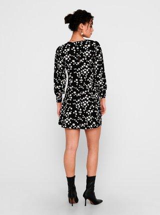 Černé květované šaty Jacqueline de Yong-Malta