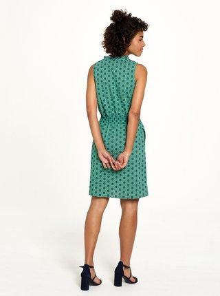 Zelené puntíkované šaty Tranquillo