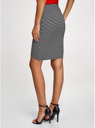 Sukně úpletová s asymetrickou délkou sukně OODJI