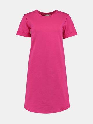 Růžové šaty s prodlouženým zadním dílem Hailys