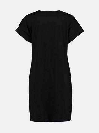 Černé šaty s potiskem Hailys