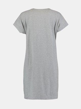 Šedé šaty s potiskem Hailys