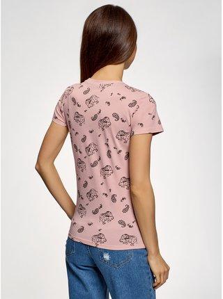 Tričko s potiskem s kulatým výstřihem OODJI