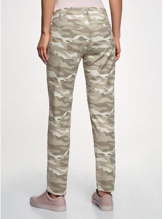 Nohavice typu chinos bavlnené OODJI