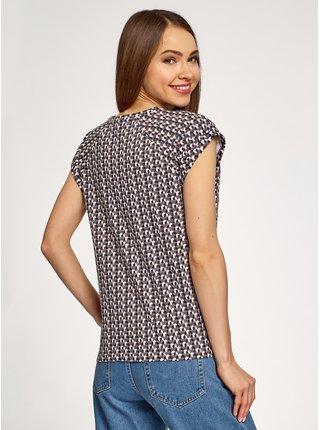 Tričko bavlnené so vzorom OODJI