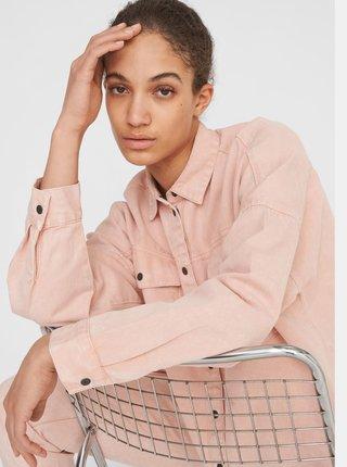 Ružová rifľová košeľa Noisy May Rica