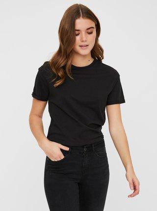 Čierne basic tričko Noisy May Brandy