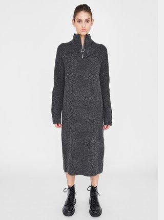 Tmavošedé svetrové šaty Noisy May Dominic
