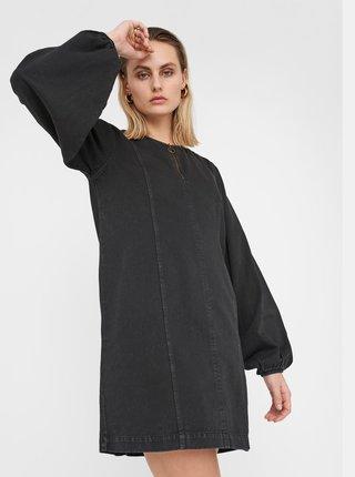 Černé džínové šaty Noisy May Gaia