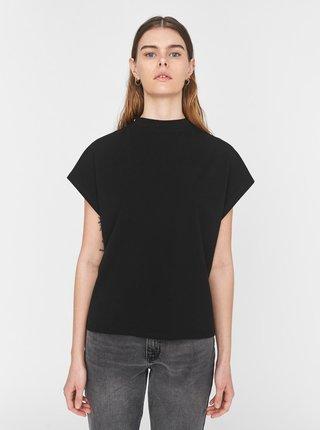 Černé volné tričko se stojáčkem Noisy May Hailey