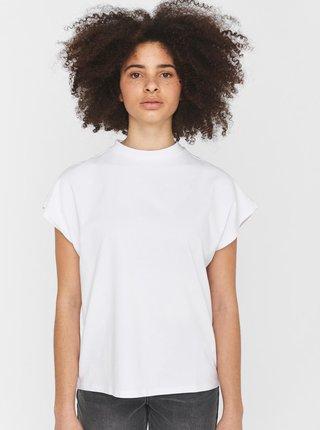 Biele voľné tričko so stojačikom Noisy May Hailey