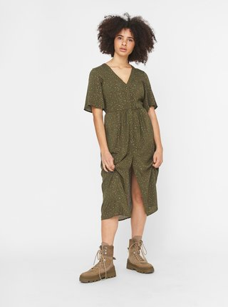 Khaki vzorované šaty Noisy May Fiona
