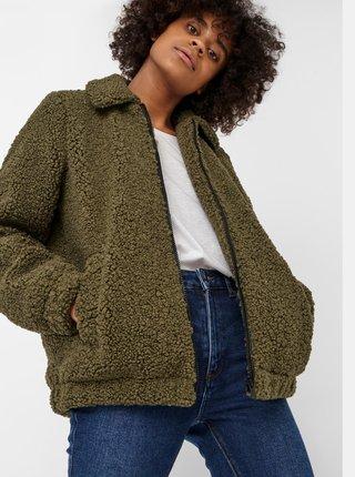 Zelená bunda s umělým kožíškem Noisy May Gabi