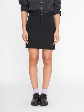 Černá sukně s kapsami Noisy May Hipe