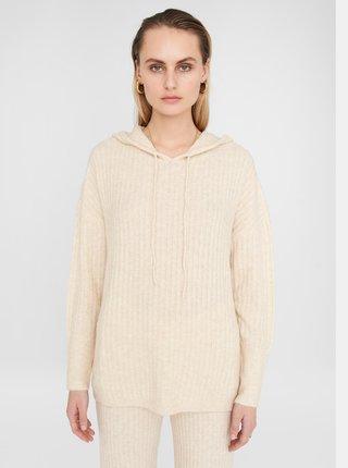 krémový svetr s kapucí Noisy May Ally