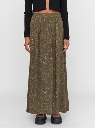 Khaki vzorovaná maxi sukně Noisy May Fiona