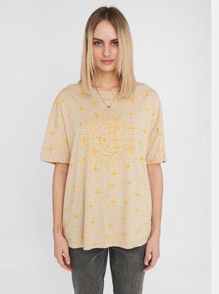 Béžové tričko s potlačou Noisy May Ida
