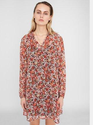 Červené květované šaty Noisy May Mia