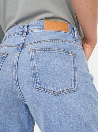 Světle modré straight fit džíny Noisy May Olivia