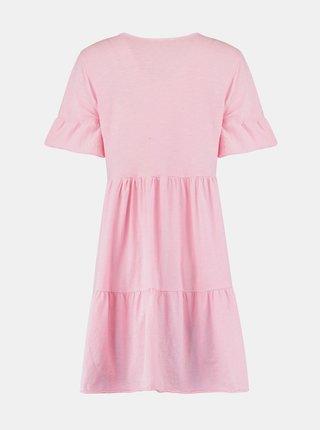 Růžové volné šaty Hailys