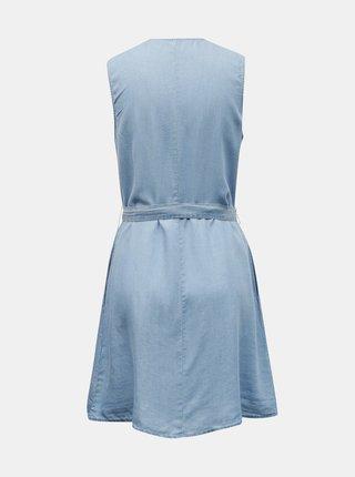 Svetlomodré rifľové šaty so zaväzovaním VERO MODA Viviana