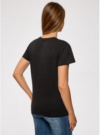 Tričko bavlněné s velkým potiskem OODJI