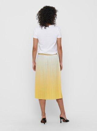 Žlutá plisovaná sukně ONLY Dippy