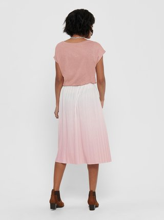 Ružová plisovaná sukňa ONLY Dippy