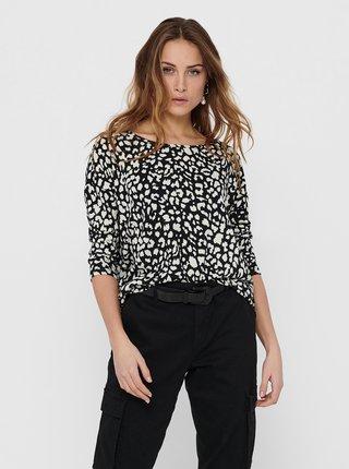 Černé vzorované tričko Only- Elcos