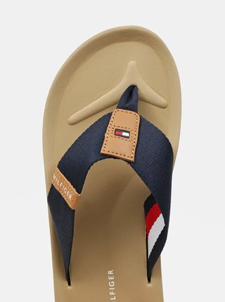 Tommy Hilfiger modré pánske žabky Classic Comfort Beach Sandal