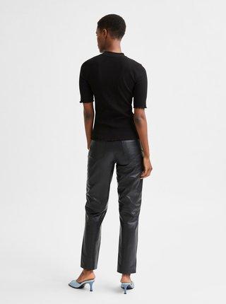 Čierne tričko so stojáčikom Selected Femme Fanna