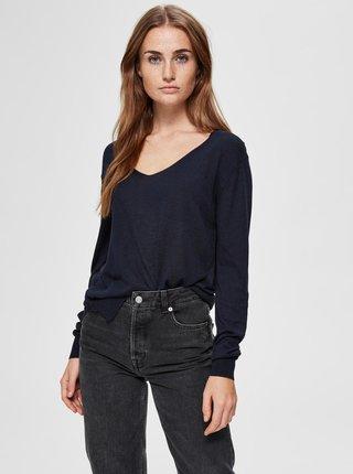 Tmavě modrý lehký svetr Selected Femme Linel