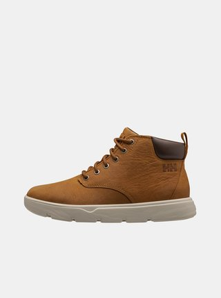 Hnedé pánske kožené členkové zimné topánky HELLY HANSEN