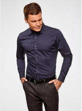 Košeľa vypasovaná s dlhým rukávom OODJI