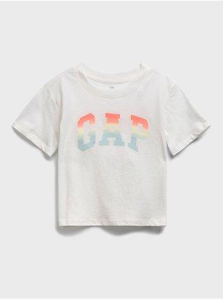 Bílé holčičí dětské tričko GAP Logo update