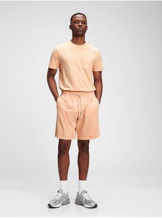 Oranžové pánské kraťasy jersey shortS