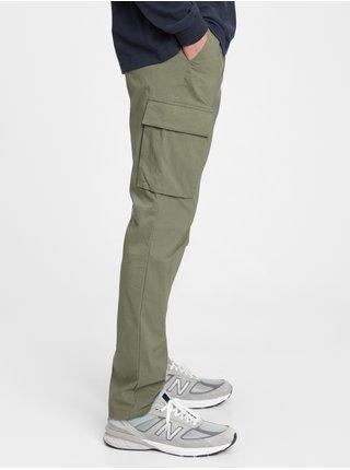 Zelené pánské kalhoty easy cargo pants GAP