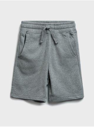 Šedé klučičí dětské kraťasy jogger shorts GAP