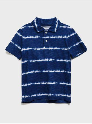 Modré holčičí dětské polo tričko stripe polo shirt GAP