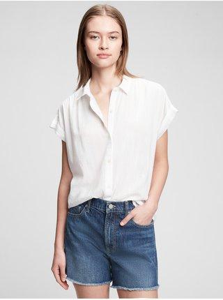 Bílý dámský top drapey t-shirt GAP