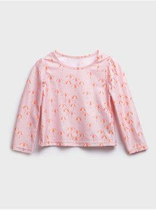 Růžový holčičí baby koupací set may swim GAP