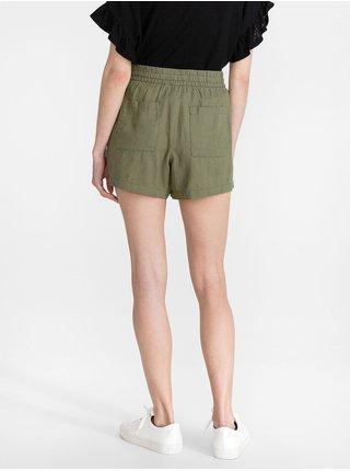 Zelené dámské kraťasy pull-on utility solid shorts GAP