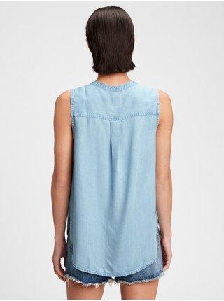 Modrý dámský top sleeveless popover rosco GAP
