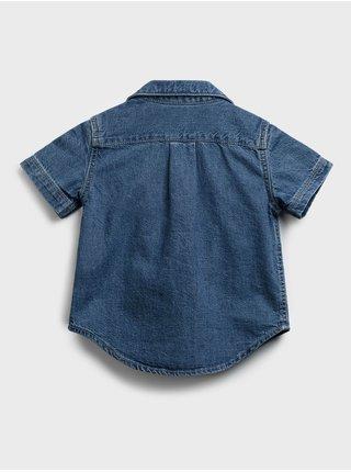 Modrá klučičí dětská košile denim shirt GAP