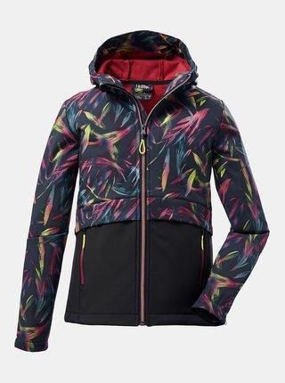 Černá holčičí vzorovaná softsheelová bunda killtec