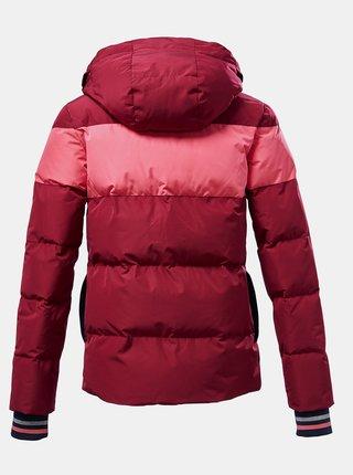 Vínová holčičí zimní voděodolná bunda killtec