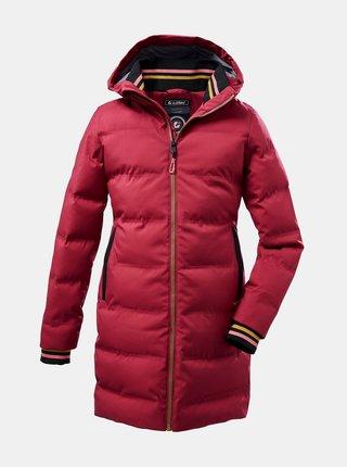 Červený holčičí zimní voděodolný kabát killtec