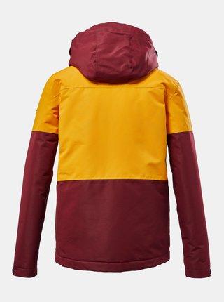 Žluto-vínová klučičí voděodolná zimní bunda killtec